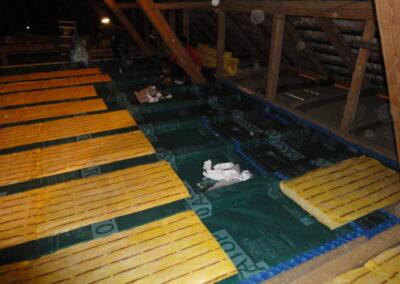 Dachbodenisolierung Reiden Aufbau 1.Lage