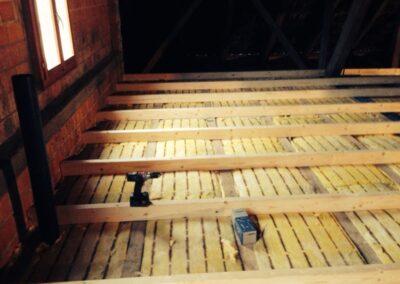 Dachbodenisolierung Reiden Aufbau Balkenlage