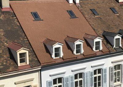 Dachsanierung mit Biberschwanzziegel Basel