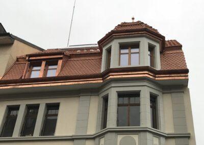 Dachsanierung inkl. Türmchen mit Biberschwanzziegel Basel