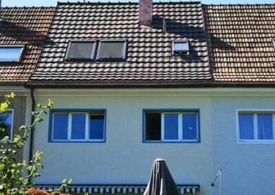 Dachsanierung Basel mit Ziegel hintere Seite