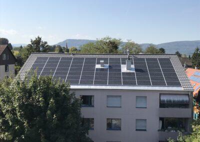 Dachsanierung Indachanlage in Zusammenarbeit mit Solarbauer Arlesheim