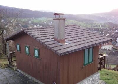 Dachsanierung Rebhäuschen mit Ziegel Dornach
