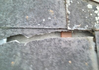 Eternitplatte gebrochen