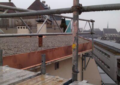 Flachdachsanierung mit Kies Basel