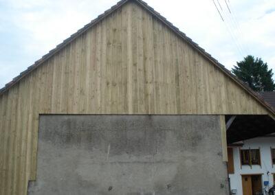 Holzfassade neu Läufelfingen